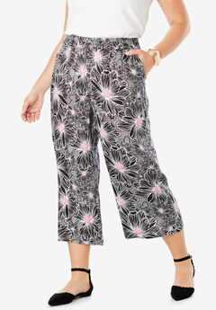 Tencel® Capri Pant, BLACK OPTICAL FLORAL