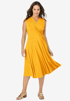 Drape-Over Dress, SUNSET YELLOW