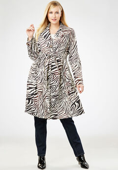 Pleated Trench Coat, ZEBRA