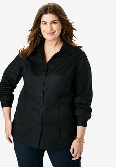 Poplin Shirt, BLACK