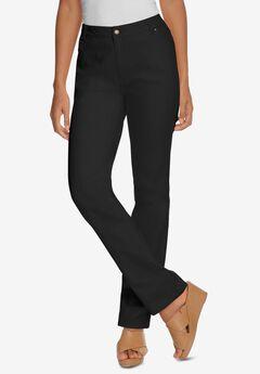 True Fit Straight Leg Jeans, BLACK DENIM