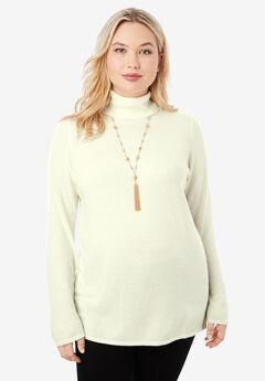 Cotton Cashmere Turtleneck,