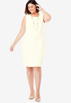Bi-Stretch Sheath Dress, IVORY