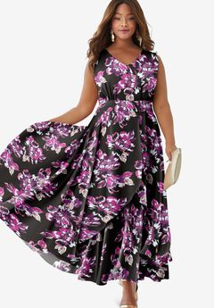 Flyaway Maxi Dress, BERRY BOLD FLORAL