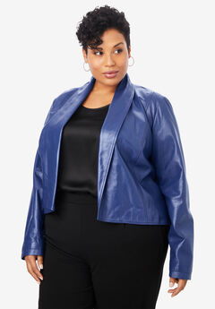 Leather Shrug, ULTRA BLUE