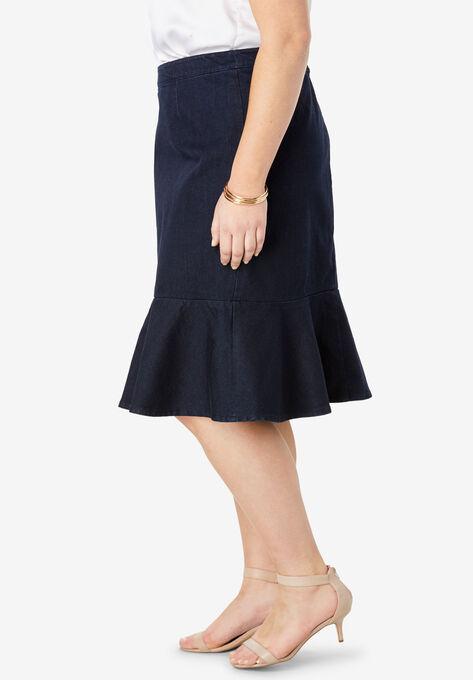 775ec836509 Refined Denim Flounce Skirt