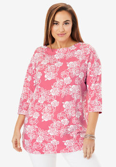 Boatneck Tunic, PINK ROSE