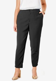Bi-Stretch Ankle Pant, BLACK