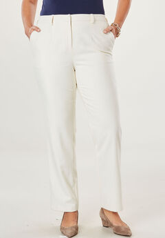 Wool-Blend Trousers, IVORY