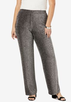 Sparkle Knit Pant, BLACK SHIMMER