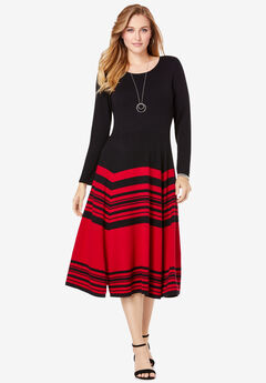 Fit and Flare Sweater Dress,