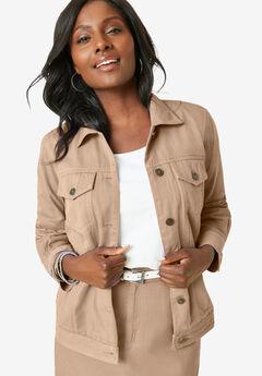 Classic Cotton Denim Jacket, NEW KHAKI