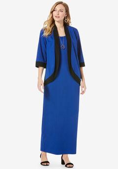 Ponte Jacket Dress, TWILIGHT BLUE BLACK