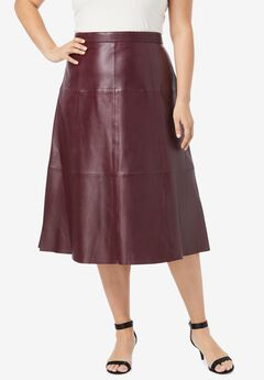 Leather Midi Skirt,