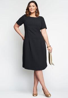 Fit & Flare Dress, BLACK