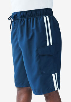 Double Stripe Board Shorts, NAVY