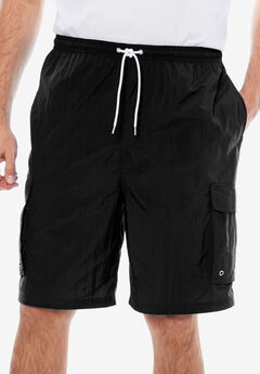 KS Island™ Cargo Swim Trunks, BLACK