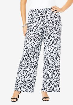 Ultra Smooth Wide-Leg Pant, ABSTRACT ANIMAL