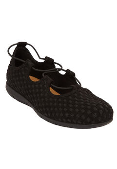 The Giana Flat by Comfortview®, BLACK