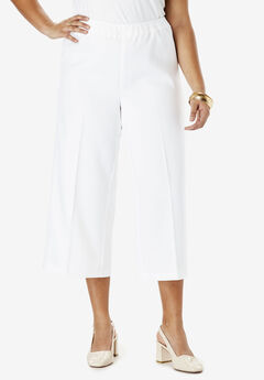 Bend Over® Culotte Pant, WHITE