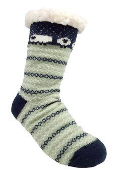 Sheep Fairisle Slipper Sock Slipper Socks,