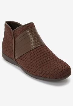 The Kayla Bootie , BROWN
