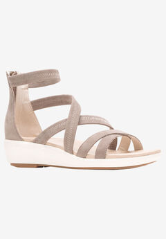 Lyricale Backzip Sandal by Hush Puppies®,