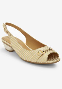The Priya Slingback by Comfortview®, GOLD