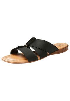 Good Soles Strappy Slide Sandal, BLACK
