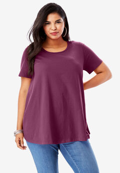 Swing Ultimate Tee with Keyhole Back, DEEP CLARET
