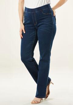 The No-Gap Slim Bootcut Jean by Denim 24/7®, DARK WASH