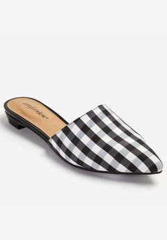 The Marley Mule by Comfortview®, BLACK WHITE MULTI