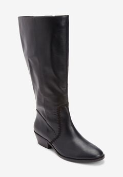 The Rio Wide Calf Boot , BLACK