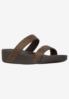 Lottie Shimmerish Slide Sandal by FitFlop,