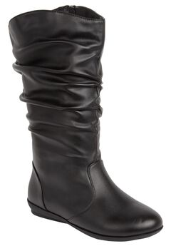Melia Leather Scrunch Boot by Comfortview,