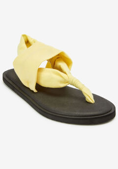 The Leni Sandal by Comfortview®, YELLOW CREAM