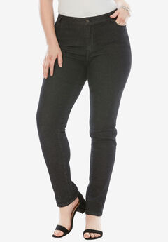 Straight-Leg Jean with Invisible Stretch® by Denim 24/7®, TRUE BLACK DENIM
