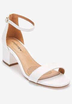 Orly Sandals by Comfortview®, WHITE