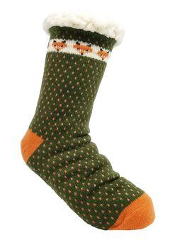 Fox Slipper Socks,