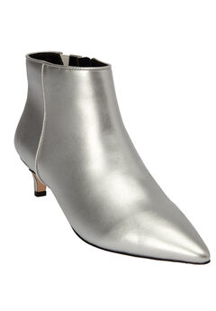 The Meredith Bootie by Comfortview®, SILVER