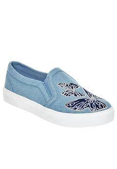 The Skyla Sneaker by Comfortview®, LIGHT DENIM MULTI