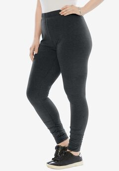 Ruched Legging, HEATHER CHARCOAL
