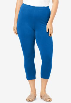 Essential Stretch Capri Legging, VIVID BLUE
