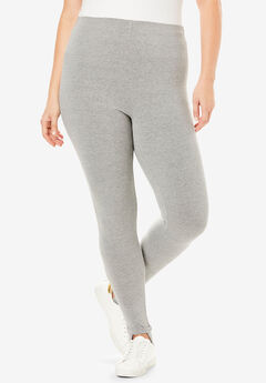 Essential Stretch Stirrup Legging, MEDIUM HEATHER GREY