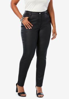 Coated Skinny Jean By Denim 24/7®, BLACK