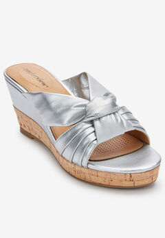 The Autumn Sandal by Comfortview®, SILVER