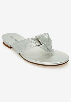 The Cora Sandal by Comfortview®, SILVER