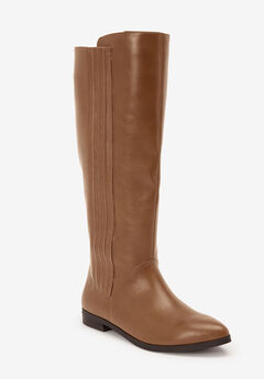 The Alecca Wide Calf Boot by Comfortview®, BROWN