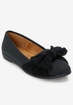 The Macie Flat by Comfortview®, BLACK