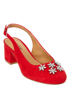 The Renee Slingback by Comfortview®, BRIGHT RUBY